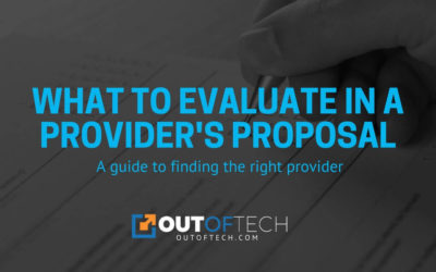 What to evaluate in a provider's proposal